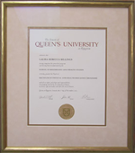 Diploma from Queens University